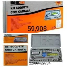Promoção- entrego- kit soquetes c catraca