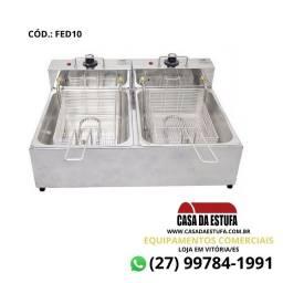Fritadeira Elétrica Edanca Aço Inox 10 Lts Profissional