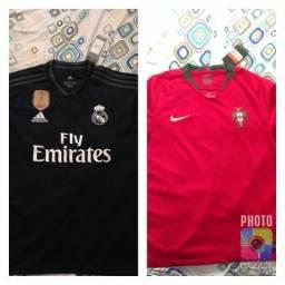 Camisa Seleção Portugal e Real Madrid Original na etiqueta a5c3355bae1b5