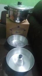 Cuscuzeira de alumínio