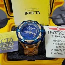 Relógio Invicta Thunderbolth na caixa com manual
