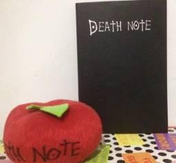 Caderno DEATH NOTE e pelúcia