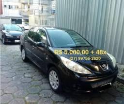 Peugeot 207 Passion 1.6 Automático, Banco de Couro , Ar Digital. Entrada R$ 5000 + 48x - 2009