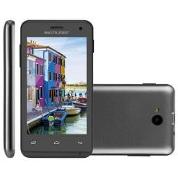 Smartphone Multilaser MS40 Cor Preta Tela 4 Câmera 2 MP + 5