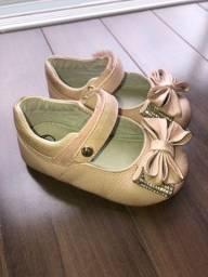 Sapatilhas couro legítimo tamanhos de 18 a 21