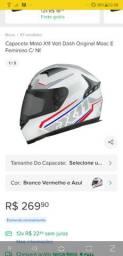 CAPACETE X11 MODELO EXPERT RIDERS - BRANCO/AZUL/CINZA