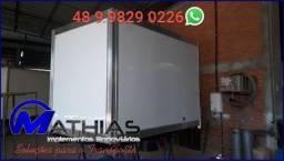 Baú refrigerado Mathias Implementos para HR OU kia Bongo 2.800 mm