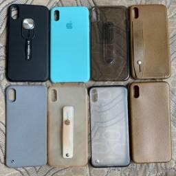 8 capinhas pouco usadas pra iphone xs max