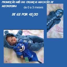 Macacão microfibra bebês