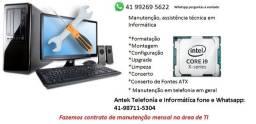 Técnico em Informática conserto de computadores, telefonia, Curitiba, Cajuru