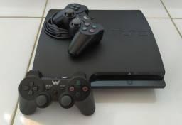 PS3 Slim Desbloqueado Zerado Com PS Move e Jogos..