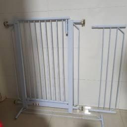 Grade de Proteção e Segurança para portas - Aço Branco