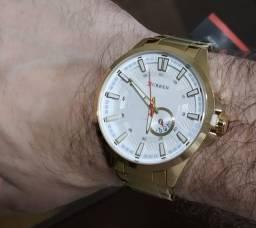 Relógio Curren De Luxo Dourado