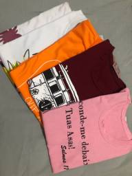 Vendo Lote com 5 T-shirts ou 14 NÃO É ATACADO