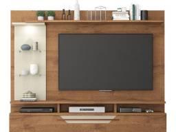 Título do anúncio: Estante de parede para TV até 60 polegadas com luz LED embutido - pronta entrega