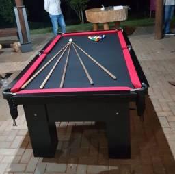 Mesa de sinuca, jantar e ping pong