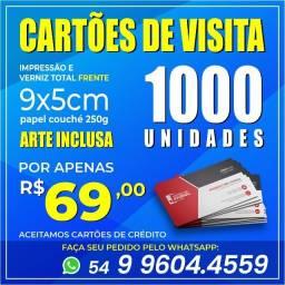 Cartões de Visita Promoção!!!! Cartões Pastas Folders Panfletos Envelopes