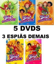 Kit contendo 5 dvds Três Espiãs Demais , novos, originais e lacrados