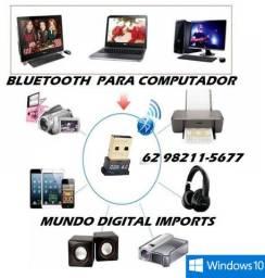 Adaptador Bluetooth 4.0 e 5.0 Para Pc - Windows 8, 10, Dongle, Usb
