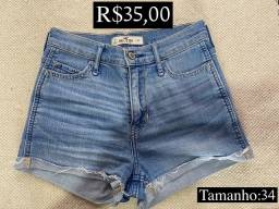 Shorts jeans cintura alta