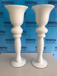 6 Vasos de Vidro Decorativos