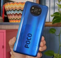 Comece o ano bem de SmartPhone / Top da loja - Poco X3 NFC/ azul e cinza / 128 gb