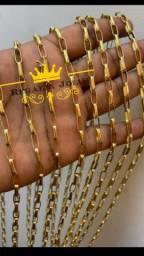 Cordão Cartier identico a ouro 4mm (MOEDA ANTIGA)