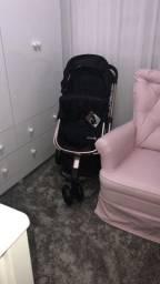 Carrinho de bebê Safety black Rosé- ediçao especial
