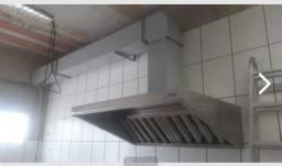 Coifa de inox para cozinha, exaustor centrífugo