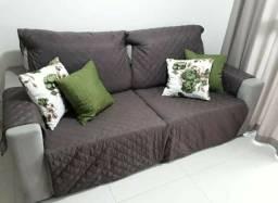 Capas para sofá (creme e marrom)