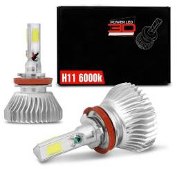 Par Lâmpadas Super LED H11 6000K 9000LM Shocklight Headlight 3D Efeito Xênon Carro
