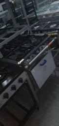 Fogão industrial baixa pressão pronta entrega  *Gabriela