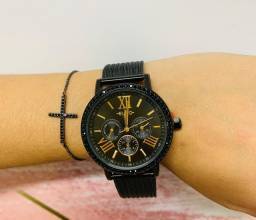 Relógios feminino e masculino