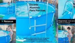 Escada de alumínio para piscina