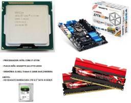 Intel Core i7 3770K + Gigabyte GA-z77X-UD5H + G.Skill Trident X 16GB 2400mhz + Brinde