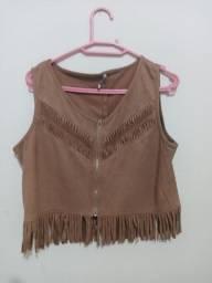 Blusa de camuça marrom tamanho G