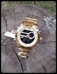 Relógio Masculino Original Naviforce Luxo