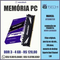 Memória para Pc Atermiter DDR3 de 4GB