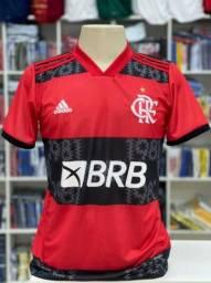 Camisa do Flamengo 2021 Rubro-Negro Vários Tamanhos