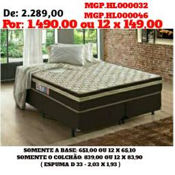 Black Friday - Conjunto Box de Espuma 1,93 King Super Grande- Direto da Fabrica