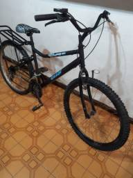 Bike aro 26 21 marchas com Bagageiro