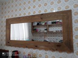 Espelho grande de parede rústico