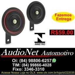 Par Buzina Paquerinha Para Carro e Moto 12v Vt135 Universal Vetor Cortejar