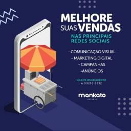 Publicidade, redes sociais, designer gráfico, flyers, banners, marketing, sites, logomarca