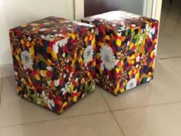 Puf - quadrado para decoração c/2 unds