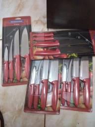 Título do anúncio: Kit de facas tramotina 30 Reis cada