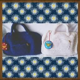 Bolsa de Mão em Crochê Y.A.M Artesanato