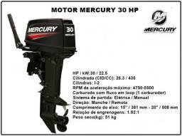 Motor de Popa Mercury 30 HP - Manual - Pronta entrega