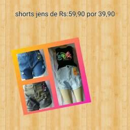 Shorts jens. Na promocao