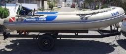 Barco / Bote Inflável 4,20 mt. Fundo Rígido